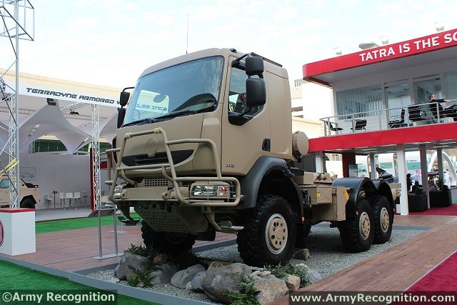 The third exhibit represents TATRA medium class of all-wheel-drive (6×6) off-road logistic trucks. It is designed to carry different superstructures up to 5.7 t of total payload. The hooklift platform is very popular to load different types of containers or flatracks with packed loads. Three-seat cab can be armored.