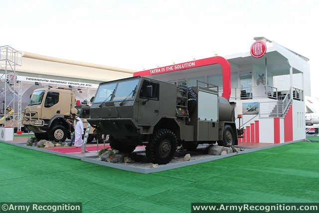 TATRA, a. s., the world's leading special off-road vehicle manufacturers is going to develop its positions in the GCC region and in the military business generally attending the world's prestigious defense industry exhibition IDEX 2013. At the defence exhibition of Abu Dhabi, Tatra presents three new products.