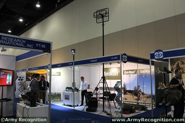 The Belgian Company Clark Masts Teksam presents for the first time in the Middle East its range of fast erecting telescopic and sectional mast systems during IDEX 2013, the International Defence Exhibition of Abu Dhabi in United Arab Emirates.
