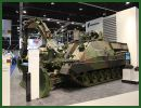 Rheinmetall Defence displays one the latest technologies in the range of tracked engineer armoured vehicle at IDEX 2013, the Kodiak. This vehicle is an heavy-duty tracked system designed for military and disaster relief operations alike.