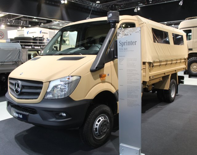 Mercedes Benz unveils new Sprinter 4 crew transport vehicle with variable usage concept at IDEX 640 001