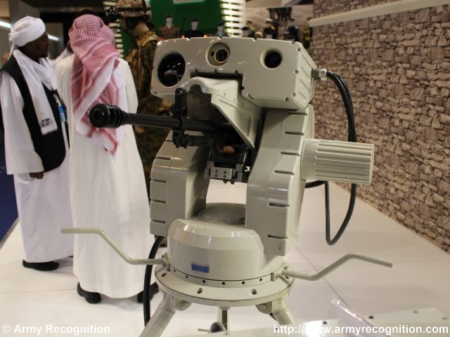 Ateed, an Automated Weapon Station, is presented by MIC Sudan at IDEX 2015 640 001