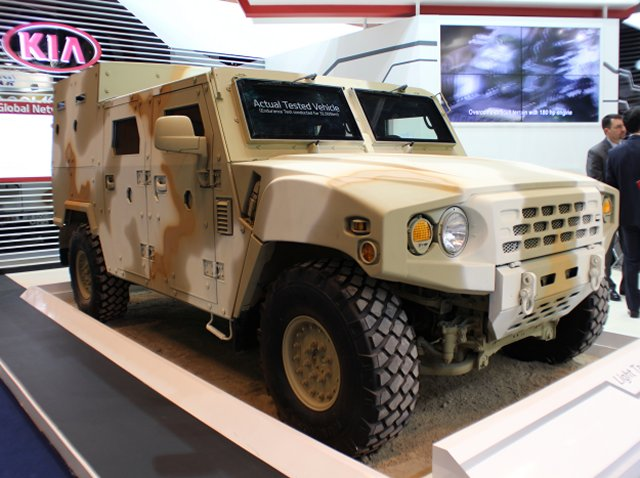 KIA Military Vehicles Light Tactical-Vehicle (KLTV) makes its premiere in IDEX 2015 640 001