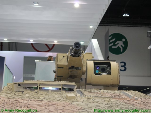 KMW presents the GTK Boxer variant with a LANCE RC turret at IDEX 2015