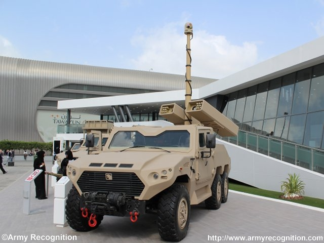 Raytheon and NIMR will integrate TALON laser guided rockets onto UAE ground vehicle 640 001