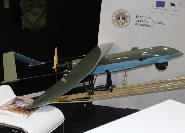 The Estonian company ELI Military Simulations showcases its SWAN III UAV at IDEX 2015 640 001