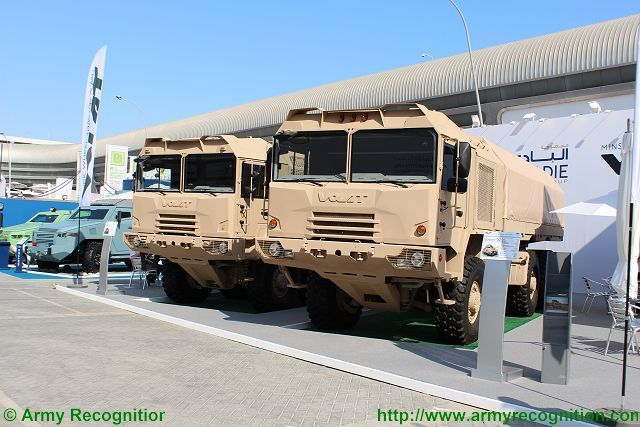 The Belarus company Volat presented at IDEX 2015 International Defense Exhibition two promising generation of multi-purpose vehicle chassis in the new unified design performance. At the exhibition the company presented new family Volat MZKT-6001 – a completely new model MZKT-600201 8×8, and upgraded all-wheel drive chassis special MZKT-600100 6×6.