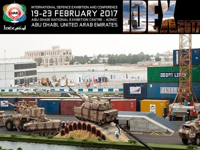 IDEX 2017 pictures Web TV Television video photos images International Defense Exhibition Conference Abu Dhabi UAE United Arab Emirates army military industry technology