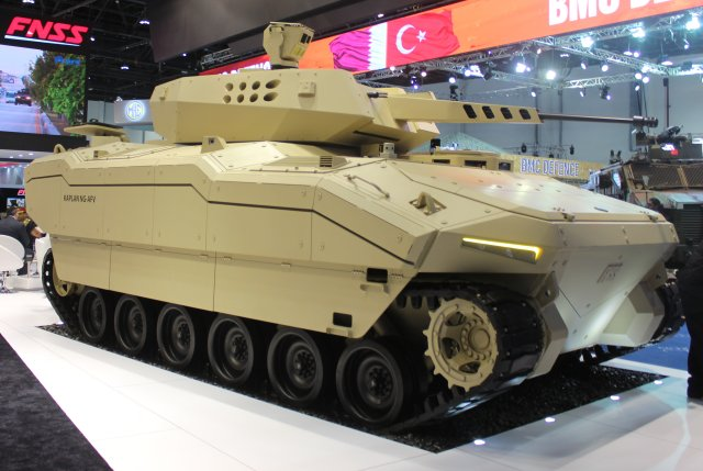 FNSS showcased its KAPLAN NG AFV at IDEX 2017 and promoted its latest innovations  002
