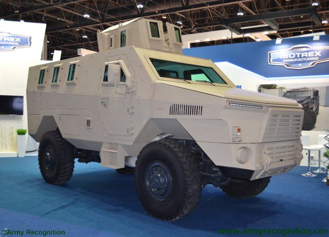 IDEX 2017 ISOTREX Manufacturing showcases for the first time its brand new LEGION MRAP 640 001