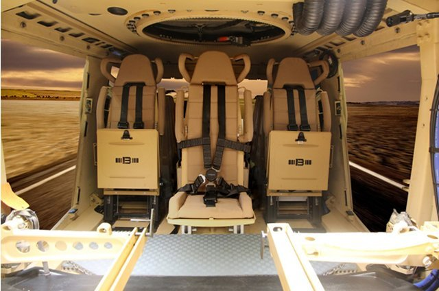 Jankel s BLASTech seats installed on many armoured vehicles at IDEX 2017 640 001