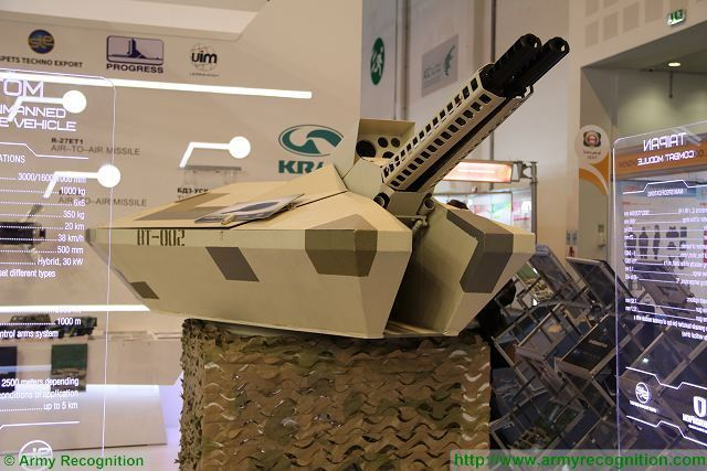 Ukraine Spets Techno Export Taipan twin barrel 23mm Combat Module for combat vehicles at IDEX 640 001