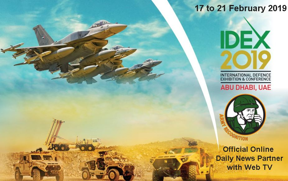 Army Recognition Official Online Show Daily News Partner with Web TV IDEX 2019 Abu Dhabi United Arab Emirates 925 001