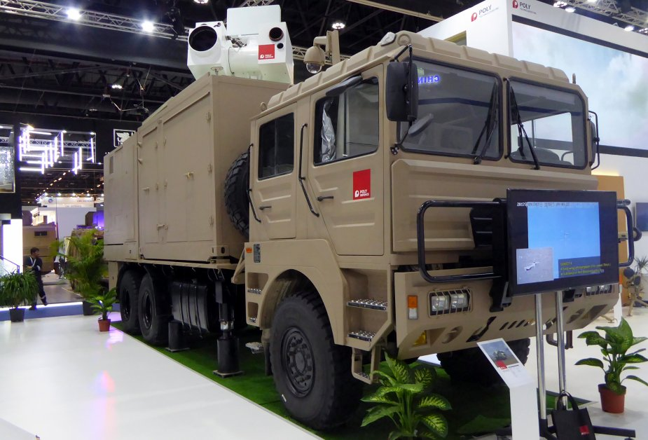 IDEX 2019 Chine company Poly Defence displays Silent Hunter laser defense system 1