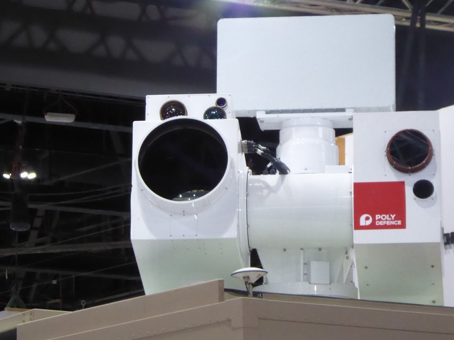 IDEX 2019 Chine company Poly Defence displays Silent Hunter laser defense system 2