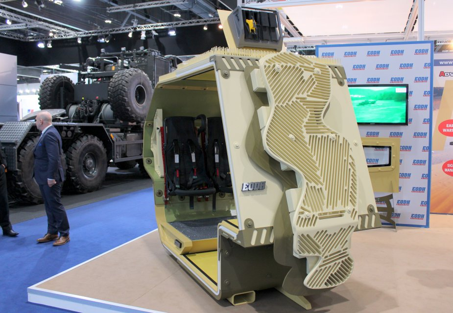 IDEX 2019 Greek company EODH unveils details about its new Advanced Shielding Platform Integrated System ASPIS 1