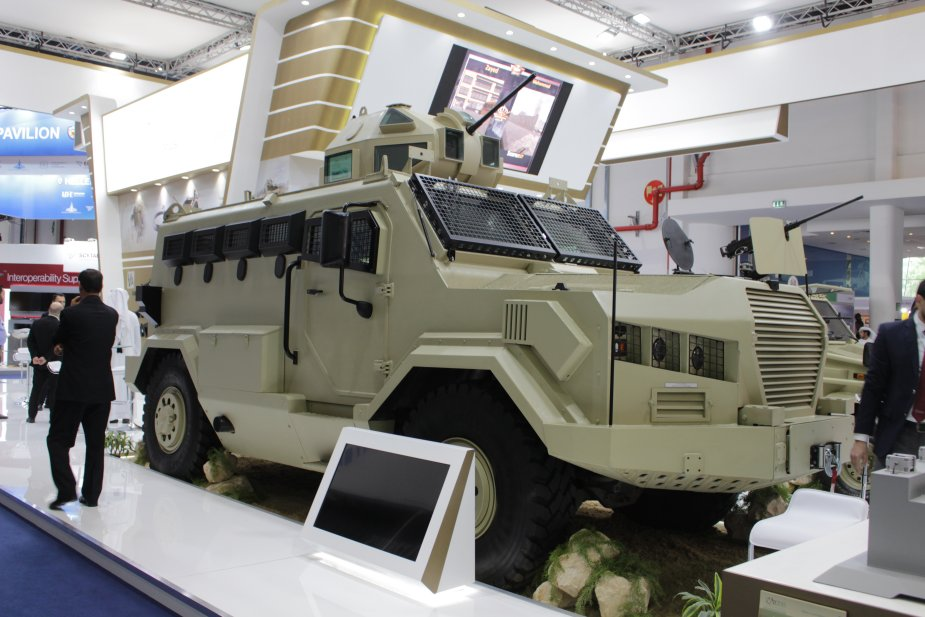 IDEX 2019 Jordanian KADDB displayed its Al Wahsh 4x4 APC