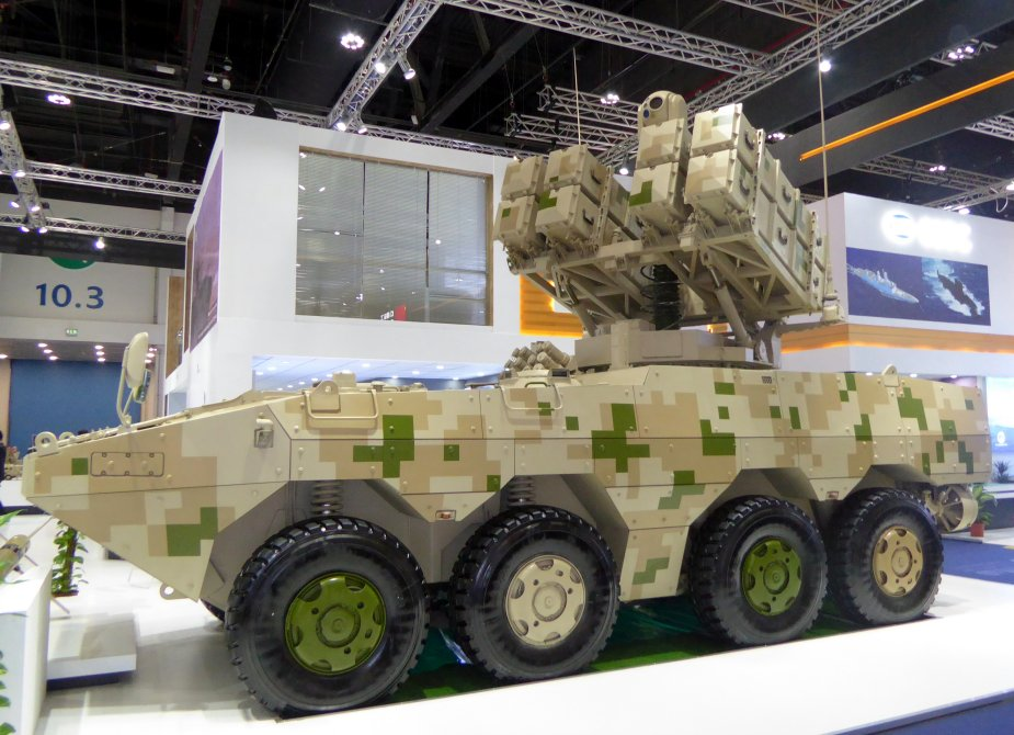 IDEX 2019 NORINCO displayed Red Arrow 10 antitank guided missiles on VN1 8x8 APC