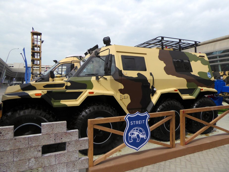 IDEX 2019 Streit Group unveiled Shaman 8x8 high mobility amphibious vehicle