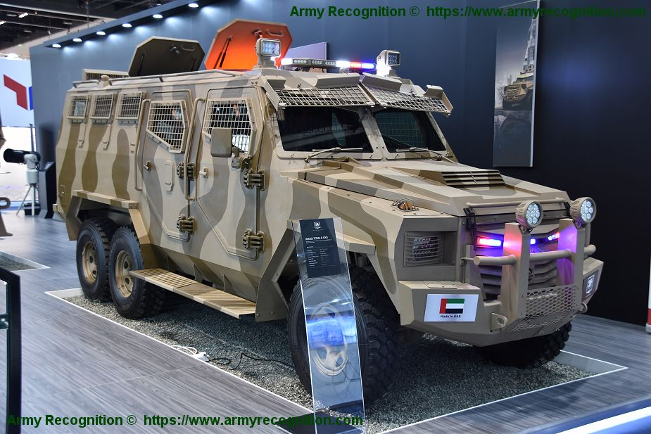 Inkas unveils its new Titan APC in 6x6 configuration at IDEX 2018 925 001