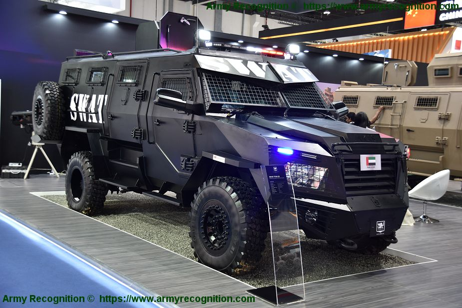 Inkas unveils its new Titan APC in 6x6 configuration at IDEX 2018 925 002