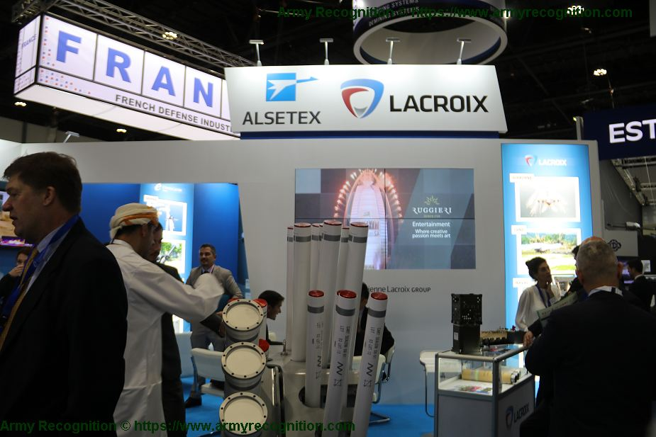 Lacroix world leader in self protection smoke solution for battlefield operations IDEX 2019 001