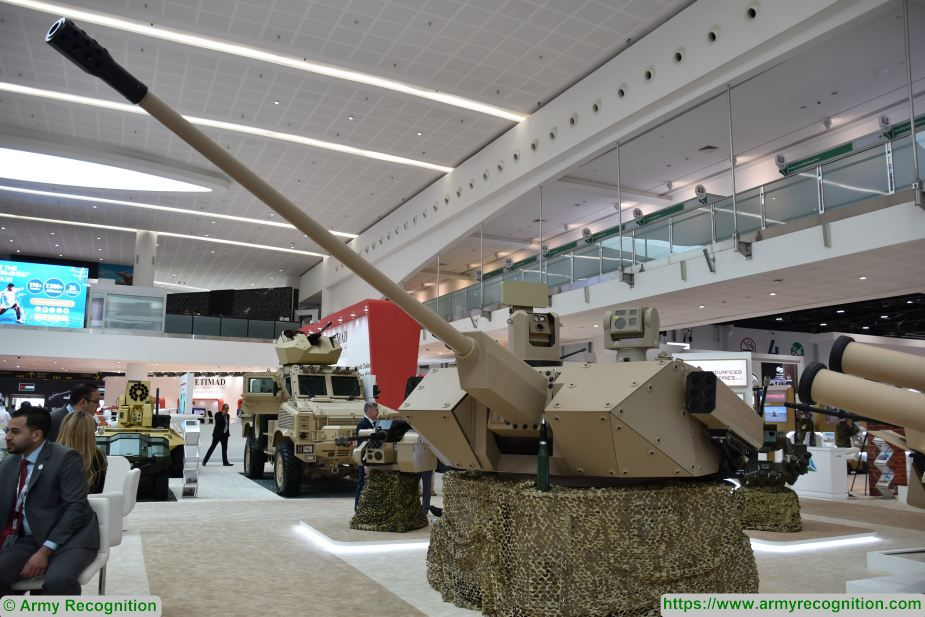idex 2019 igg showcases desert spider 57mm turret