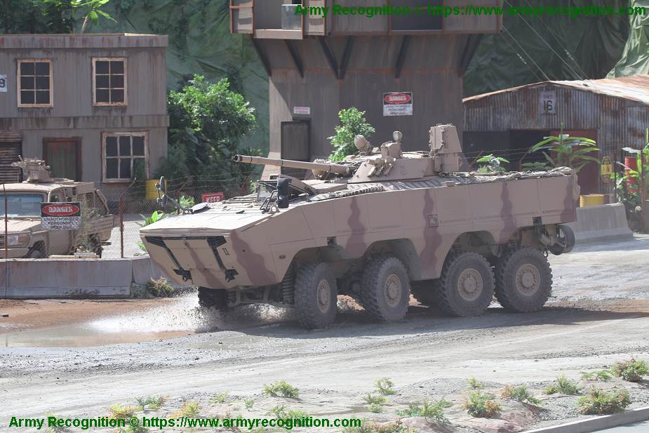 UAE made Rabdan 8x8 armored vehicle armed with laser weapon system IDEX 2021 925 002