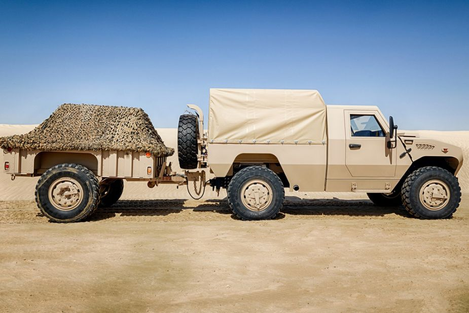 Ajban 420 4x4 tactical logistic utility military vehicle Nimr Automotive UAE United Arab Emirates defense industry 925 001