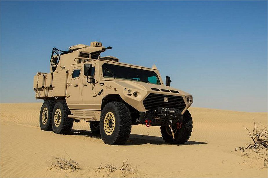 Hafeet 640A 6x6 protected patrol vehicle four man armoured cabin NIMR Automotive UAE United Arab Emirates 925 001