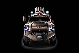 Hornet INKAS 4x4 pickup design 4x4 APC armored personnel carrier vehicle front view 001
