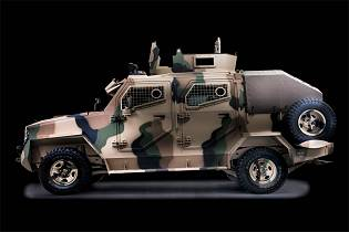 Hornet INKAS 4x4 pickup design 4x4 APC armored personnel carrier vehicle left side view 001