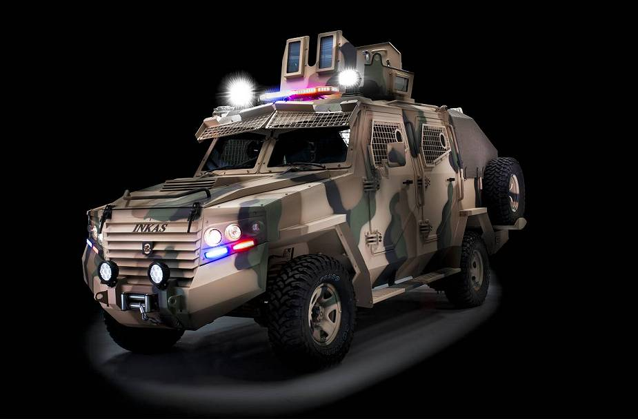 Hornet Inkas 4x4 wheeled APC Armored Personnel Carrier security vehicle UAE defense industry 925 002