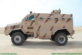Rila 4x4 MRAP Mine Resistant Ambush Protected vehicle APC personnel carrier IAG United Arab Emirates left side view 001