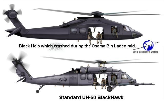 The US military may have operated a new classified helicopter type in its recent raid on Osama bin Laden's compound in Pakistan. It was a secretly developed stealth helicopter, probably a highly modified version of an UH-60 Blackhawk.