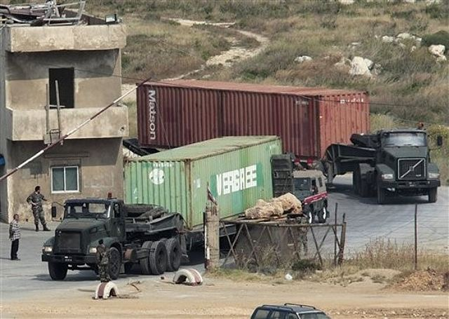 The Lebanese army has seized a large consignment of Libyan weapons from a ship intercepted in the Mediterranean. It didn't say where the vessel was heading. But the ship's owner says it was due to unload in the north Lebanese port city of Tripoli.