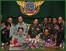 Cambodian Deputy Prime Minister and Defense Minister Tea Banh and Chinese Defense Minister Liang Guanglie on Monday signed a military cooperation agreement in Phnom Penh. Under the deal, signed after a one-hour meeting between the two ministers, China will continue receiving Cambodian military personnel for training in China.