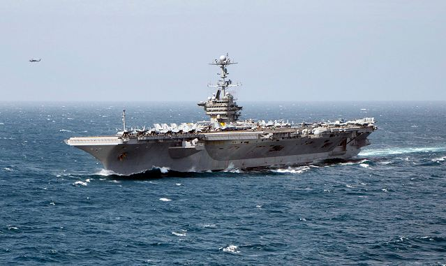 U.S. officials say the Navy is beefing up its presence in the Persian Gulf region, increasing the number of aircraft carriers from one to two. The USS Harry S Truman has arrived in the Arabian Sea and was scheduled to take the place of the USS Nimitz, which was supposed to head home. The Navy has ordered the Nimitz, which is in the Indian Ocean, to stay for now.