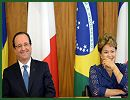 "Brazilian President Dilma Rousseff and her French counterpart, Francois Hollande, agreed Thursday, December 12, 2013, to enhance cooperation in defense and high technology. ""France and Brazil maintain cooperation that is unique due to its content, reach and scope, especially in the areas of defense and high-performance technology,"" said Brazilian President Rousseff."