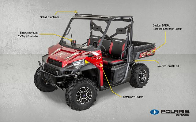 Polaris® Industries Inc. (NYSE: PII), the leading manufacturer of off-road vehicles, today announced that Polaris RANGER® XP 900 EPS vehicles will be used as part of the DARPA Robotics Challenge to be held December 20-21, 2013, at the Homestead-Miami Speedway, in Homestead, Fla.
