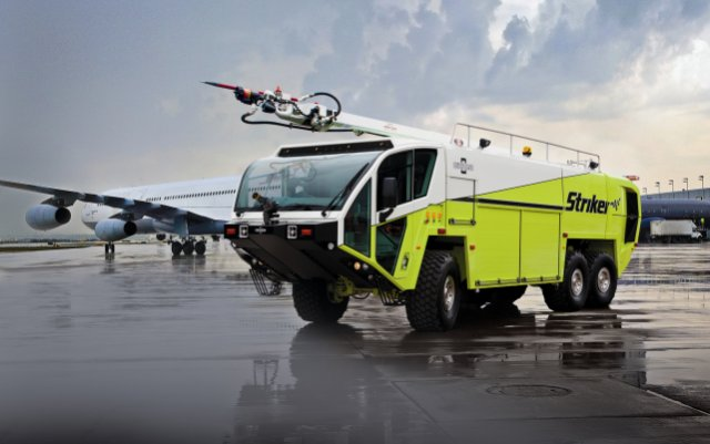 The Australian Defense Force (ADF) has selected Oshkosh Airport Products, LLC, an Oshkosh Corporation company, to deliver its new fleet of aircraft transportable Aircraft Rescue and Fire Fighting (ARFF) vehicles. The Oshkosh® Striker® AT/XC will be the ADF's first-response vehicle in aircraft fire emergencies at military bases and expeditionary airfields.
