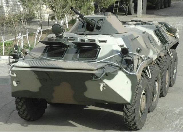 "Ukraine's state-owned Ukroboronprom has delivered 10 repaired and updated BTR-70 armored personnel carriers to the country's State Guard Service. The defense company said the vehicles, with enhanced armor protection, were delivered earlier this month together with an armored medical vehicle. An additional BTR-70s are to be delivered ""in the nearest future."""