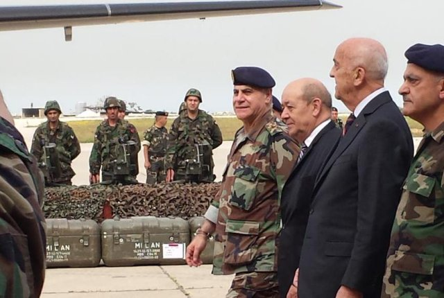 France delivers first 48 Milan anti-tank missiles (ATGM) to Lebanese army