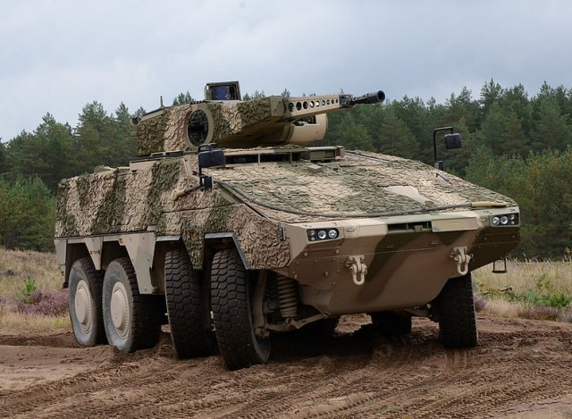 Lithuania Armed Forces started testing ARTEC sBoxer armoured fighting vehicle 640 001