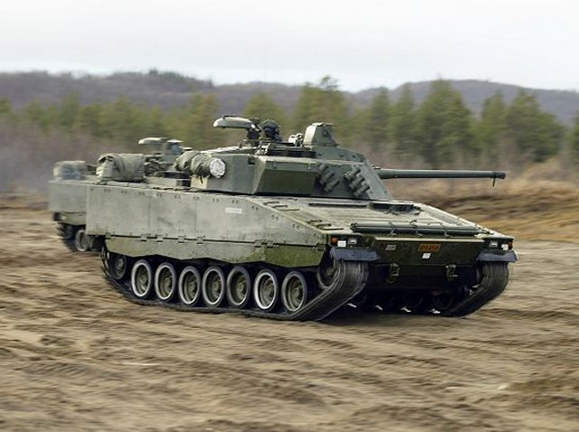 BAE SYSTEMS DELIVERS FIRST OF 144 CV90S TO NORWAY 640 001