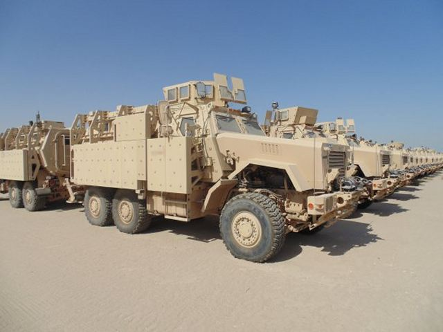 United States Army has completed the delivery of 250 Caiman 6x6 MRAP vehicles to the Iraqi army 640 001