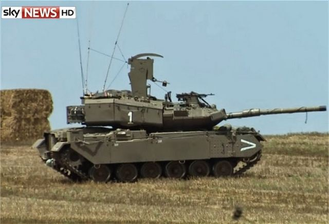 "Israeli army unveils officially the existence of the ""Pereh"", a Magach main battle tank converted in anti-tank missile combat vehicle. The vehicle is equipped with a missile launch station which can fire the anti-tank guided missile ""Tamuz"" or Spike NLOS."