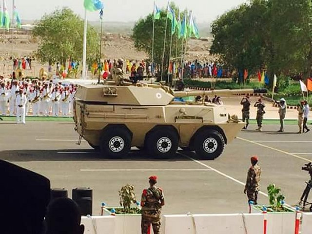 Djiboutian Army Unveiled for the First Time WMA301 105mm Wheeled Tank Destroyer During Parade 640 001