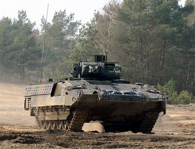 German army takes officially delivery of Puma infantry fighting vehicle from Rheinmetall and KMW 640 001