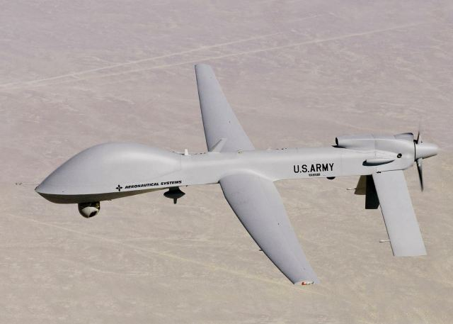During an exercise at the National Training Center, or NTC, on Fort Irwin, California, U.S.soldiers have tested the MQ-1C Gray Eagle unmanned aircraft system, or UAS, with the One System Remote Video Terminal, or OSRVT, which allows Soldiers to take control of the Gray Eagle payload.